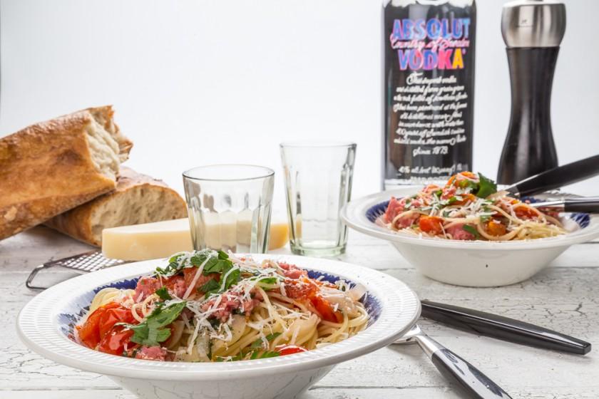 Spaghetti med vodkasås