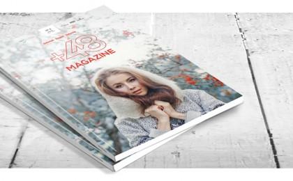 Omslaget på +48 Magazine