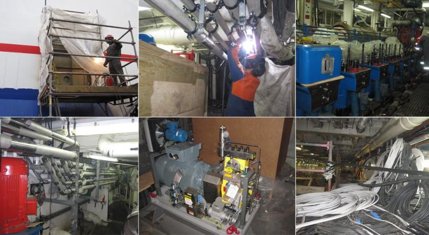 Bilder från konverteringen till metanol