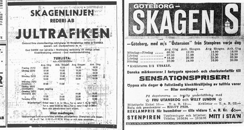 De första annonserna