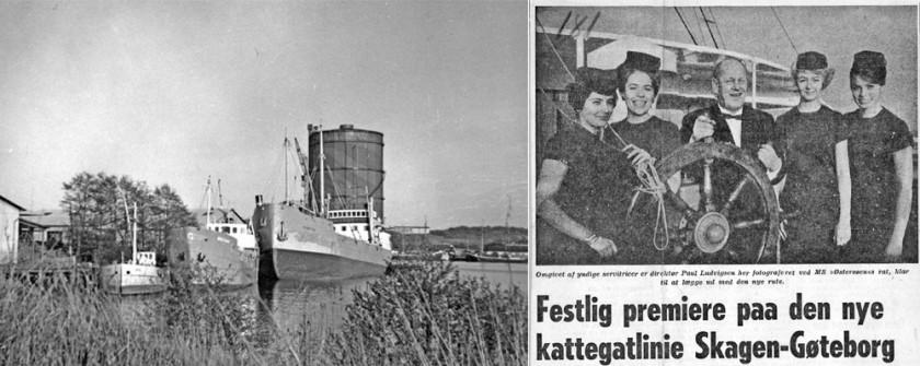 Stena-flottan i Gullbergsvass 1962, foto Örjan Hellertz samt pressklipp med Ludvigsen på Östersöen