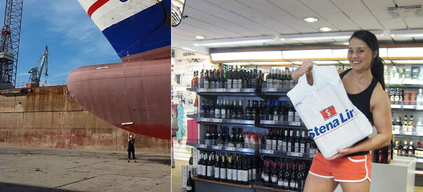 Vaike lyfter Nautica och tränar BORDERFIT