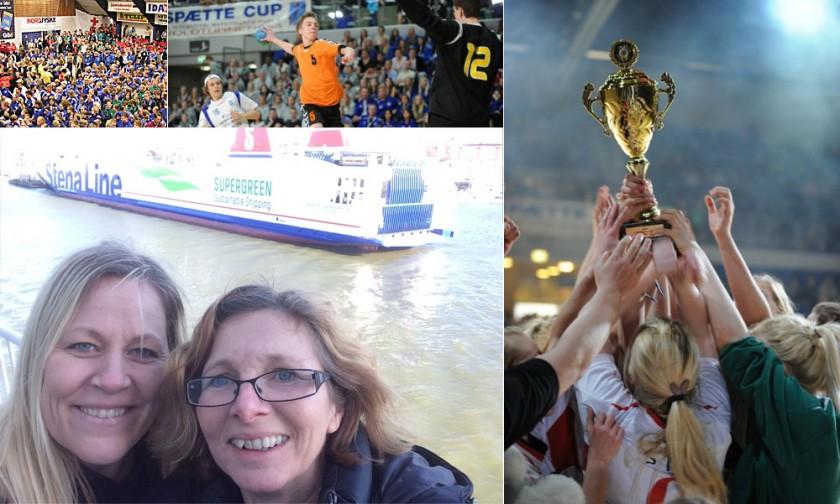 Rödspätte Cup i Fredrikshamn och tjejerna från OLKA ombord på Jutlandica på väg till Danmark