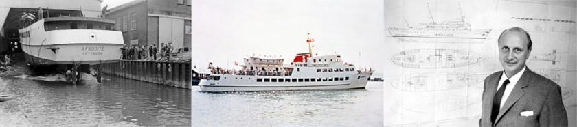 Afrodites sjösättning i Husum, Afrodite i Skagen samt Sten A Olsson
