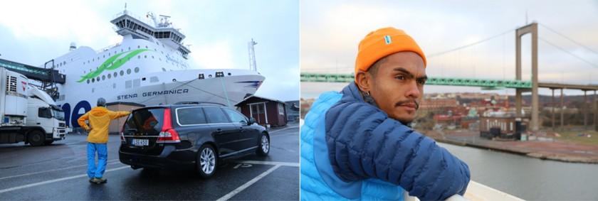Inför avfart till Kiel med Germanica samt vägen ut genom Göteborgs hamn