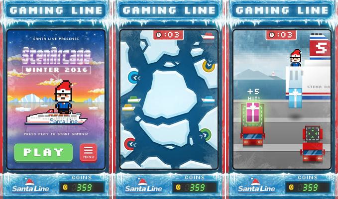 gaming line santa line