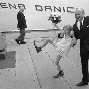 Sten Allan Olssonoch Pippi vid Stena Danica 1969