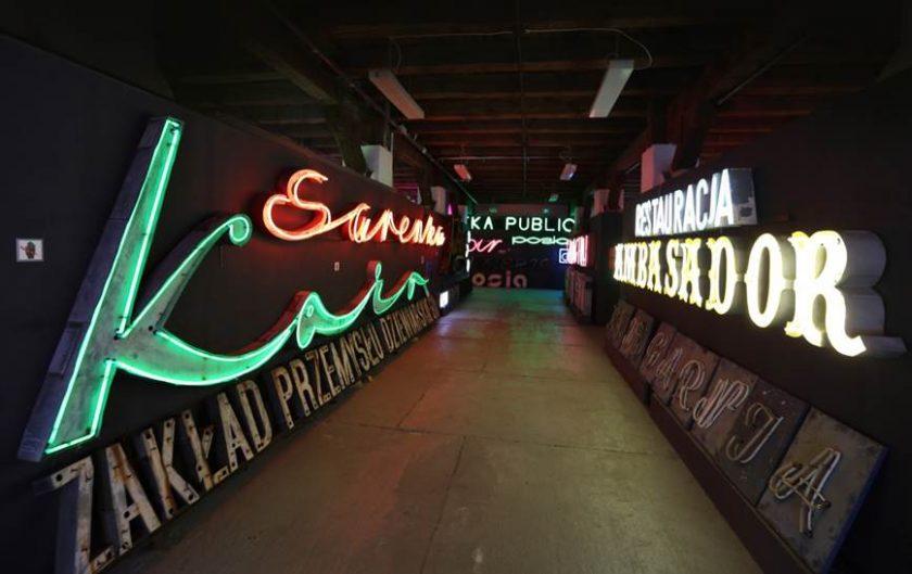 Neonskyltar på museum
