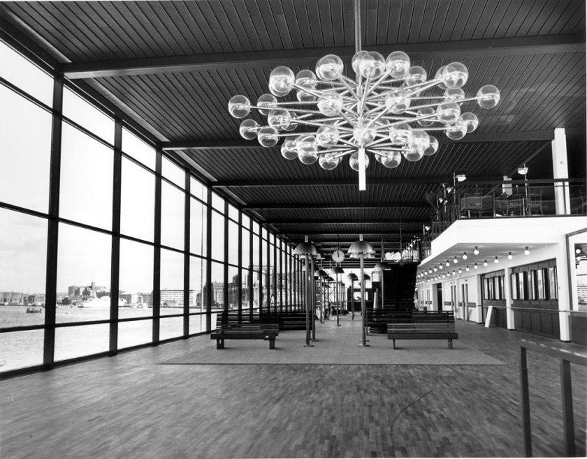 Interiörbild från Danmarksterminalen 1972,