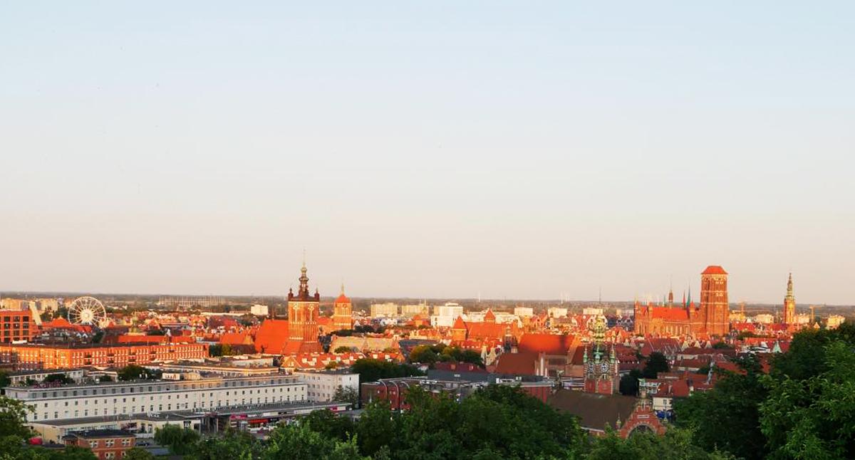 panoramavy över Gdansk