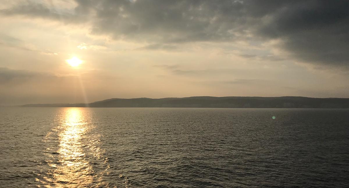 Utsikt från fartyget